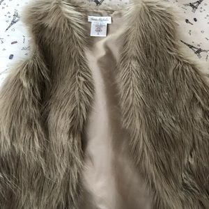 Faux fur vest for girls (kids)